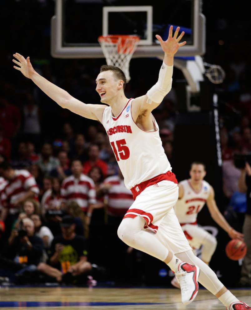Sam Dekker's big shots boost Wisconsin to Final Four _lowres