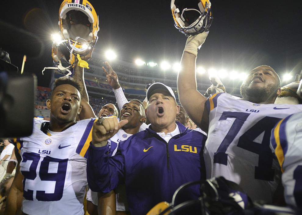 Video: LSU coach Les Miles spreads the credit for the Tigers' 30-27 win against Florida _lowres
