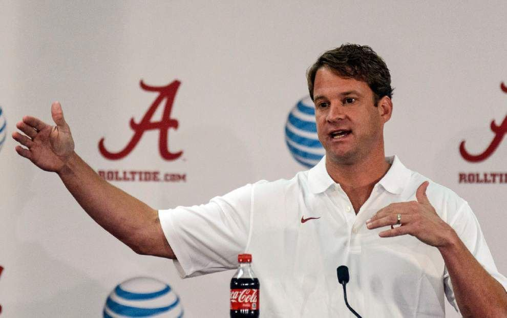 Lane Kiffin enjoying role behind the scenes with Crimson Tide _lowres