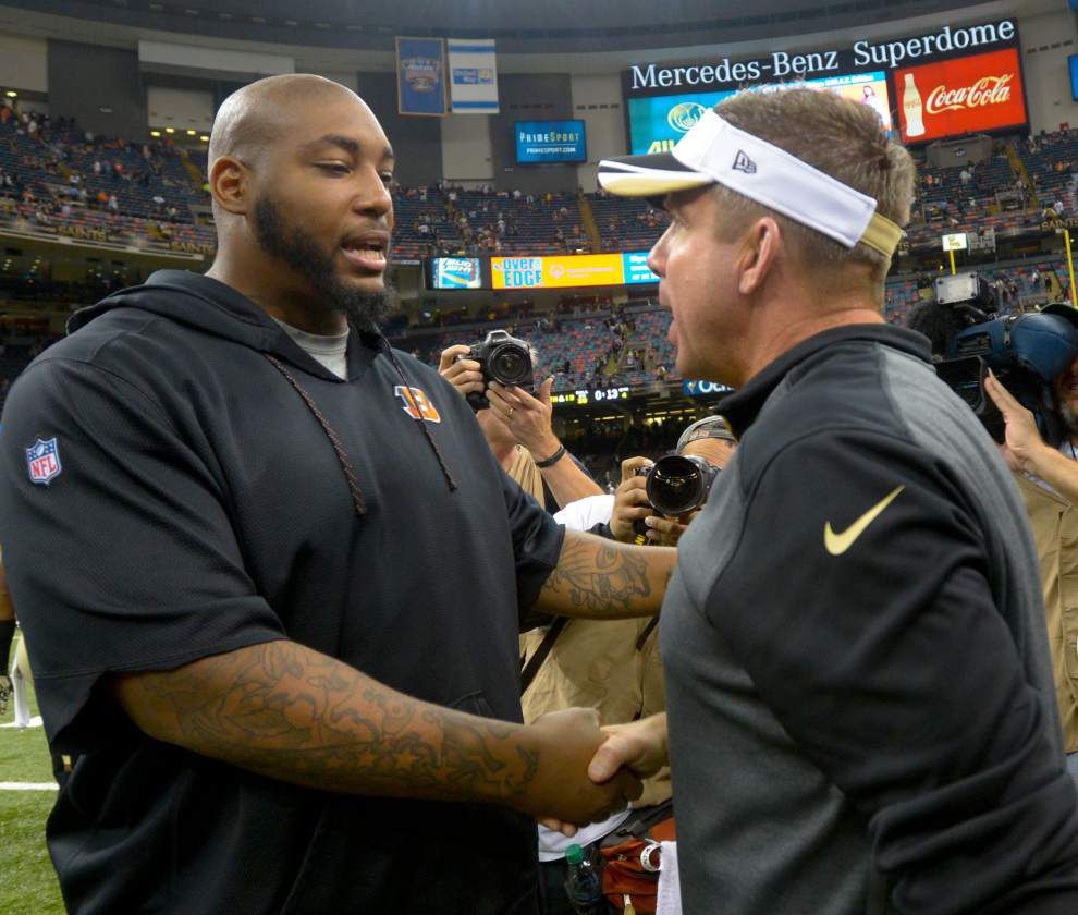 Saints honor Cincinnati Bengals defensive tackle Devon Still and his daughter, Leah, in Sunday's game _lowres
