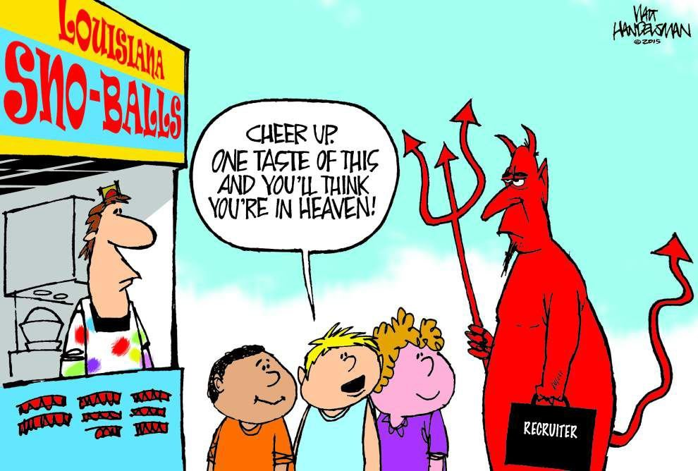 Walt Handelsman cartoon contest winners: 'The Devil made'em do it!' _lowres