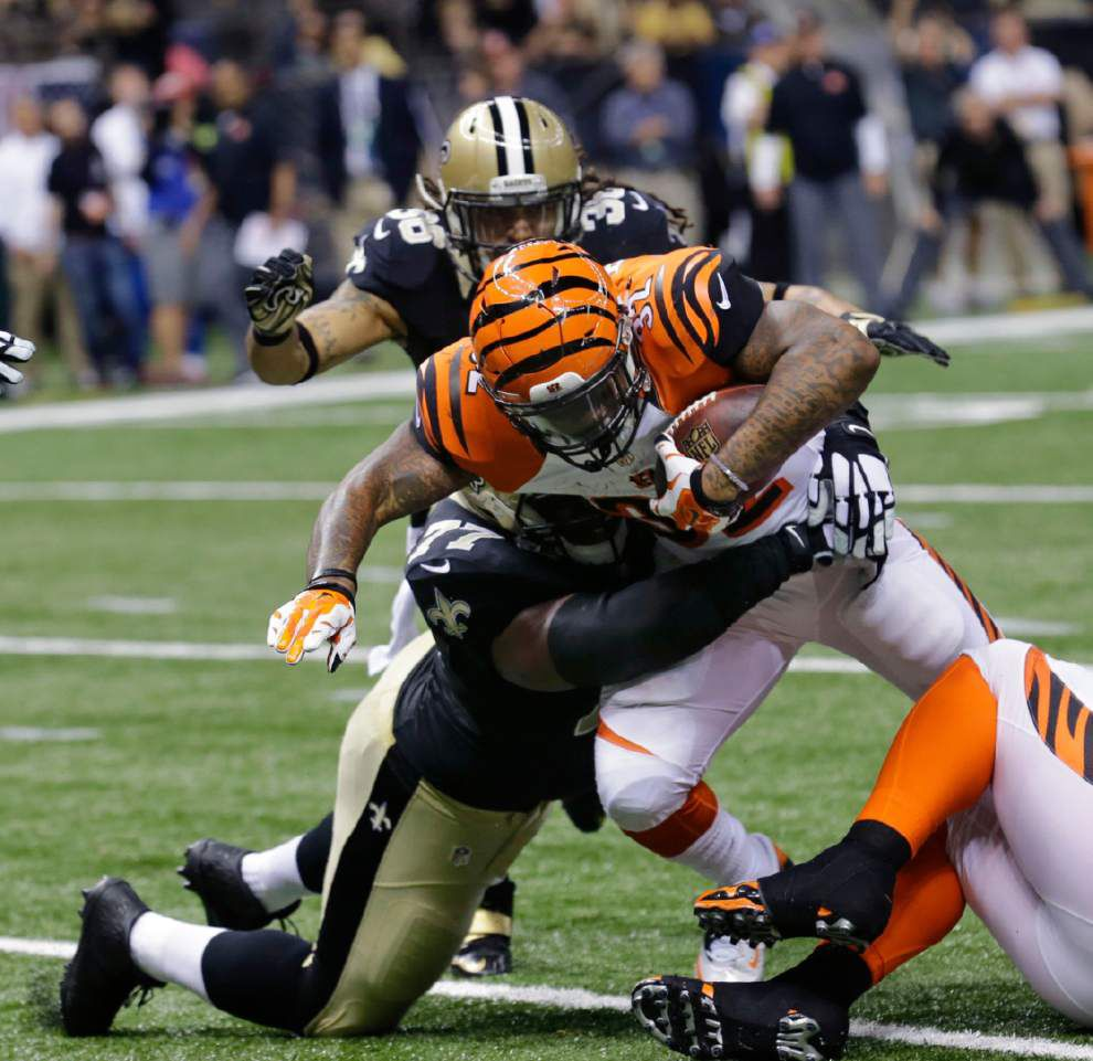 Rookie Jeremy Hill gives Bengals much-needed boost _lowres