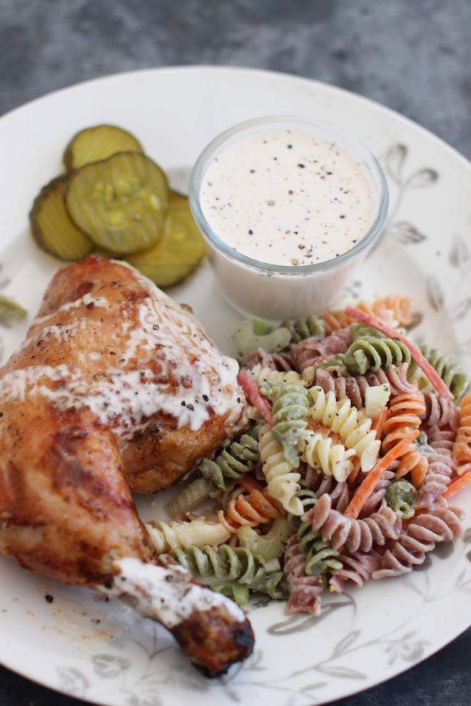 Butterflied Barbecue Chicken With Alabama White Sauce _lowres