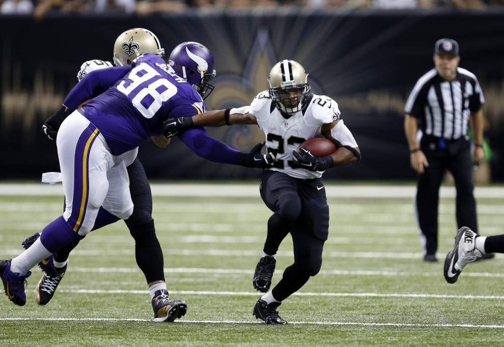 Pierre Thomas to miss time from the Saints with a shoulder injury: Report _lowres