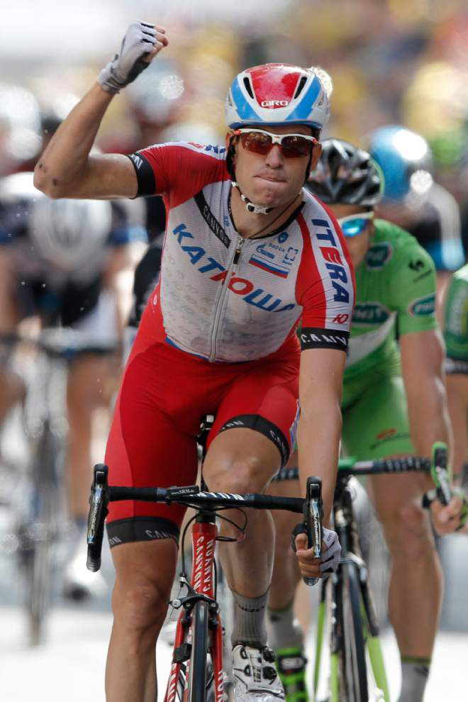 Norway's Kristoff wins Tour stage; Nibali maintains the yellow jersey _lowres