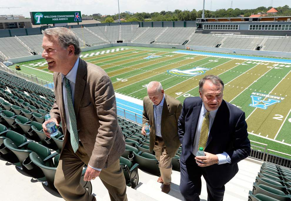 Commissioner Mike Aresco high on future of AAC, Tulane _lowres