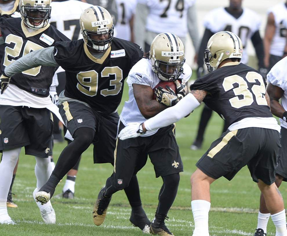 Analysis from Saints' first practice of training camp _lowres