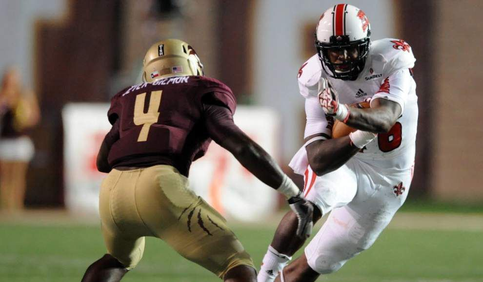 Ragin' Cajuns makes its statement, dismantles Texas State Bobcats 34-10 _lowres