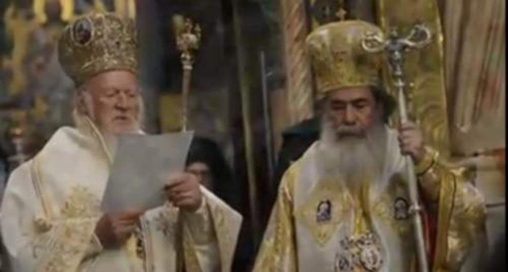 Video: Patriarchs greet each other in Jerusalem _lowres