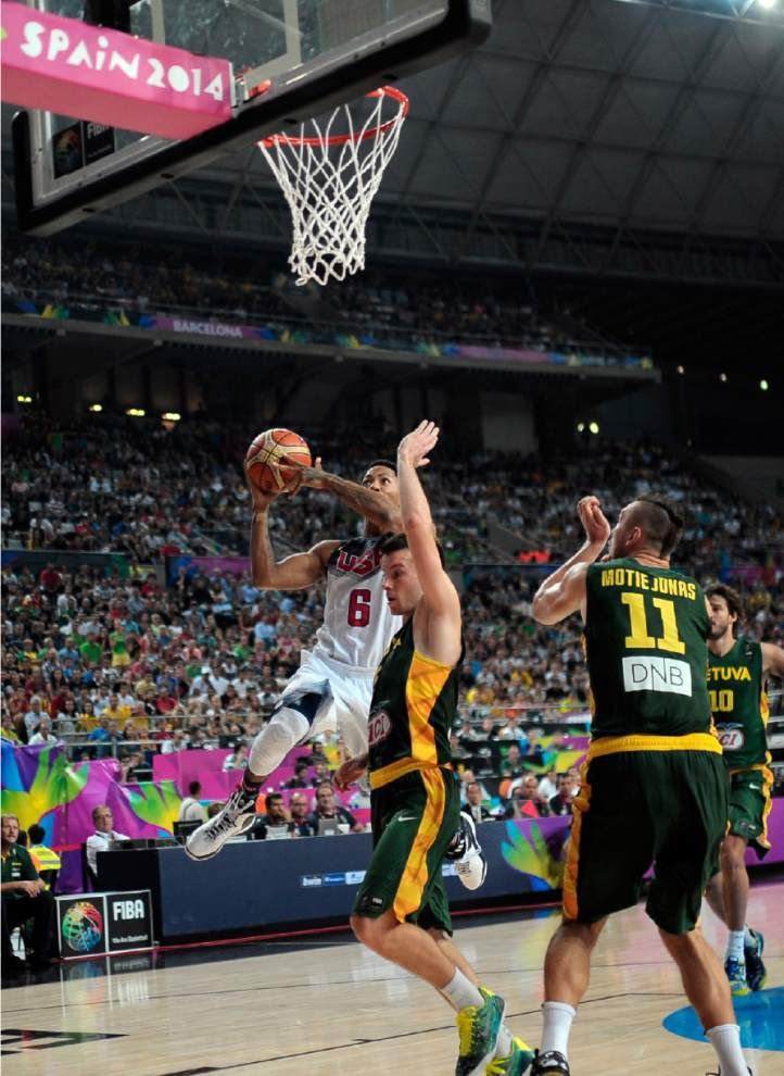 U.S. beats Lithuania to reach basketball world final _lowres