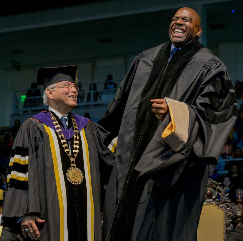 Norman Francis presides over his last commencement at Xavier University _lowres
