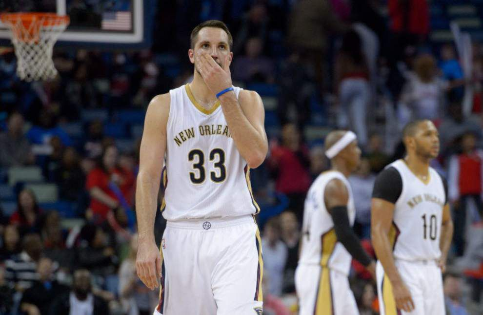 Pelicans forward Ryan Anderson doesn't know when he will return to the lineup with his sprained knee _lowres