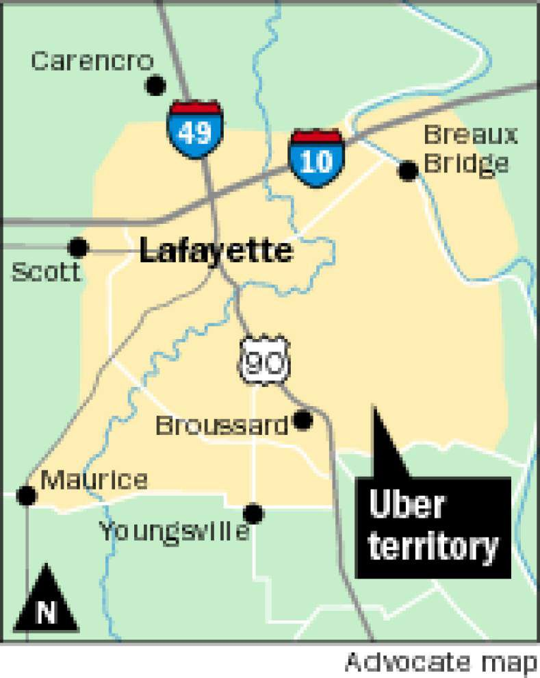 Uber launches ride-share service in Lafayette _lowres