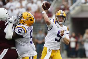 LSU overcomes slow start in Starkville to beat Mississippi State 36-13