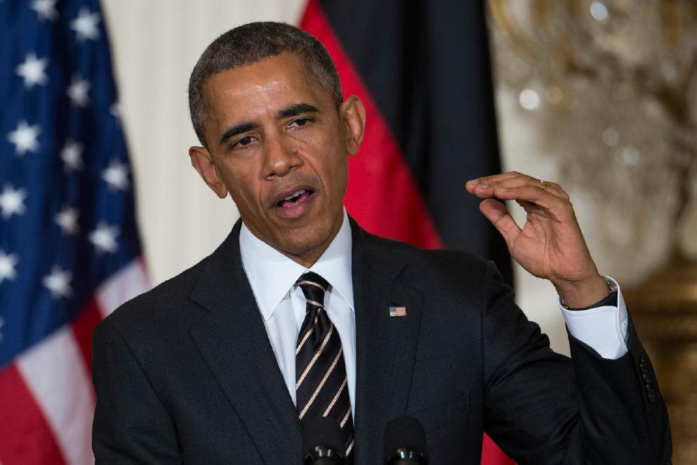 Obama sends Congress request for military force against Islamic State group _lowres