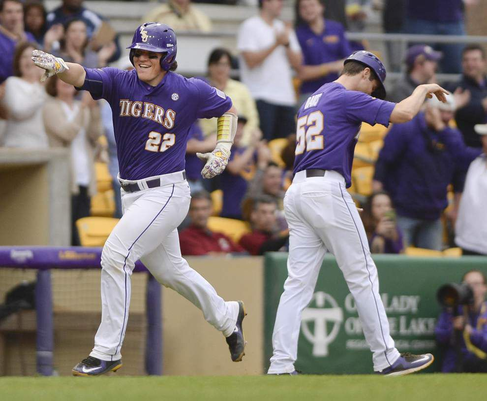 LSU catcher Kade Scivicque named co-SEC player of the week _lowres