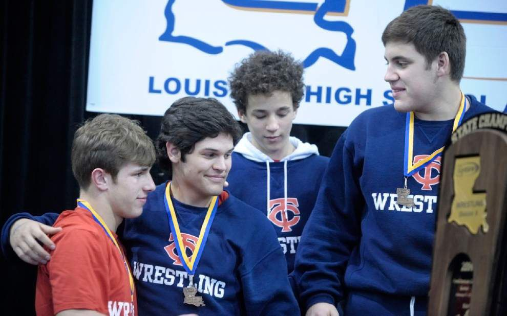 Video: Teurlings Catholic wins third straight Division II wrestling state title _lowres