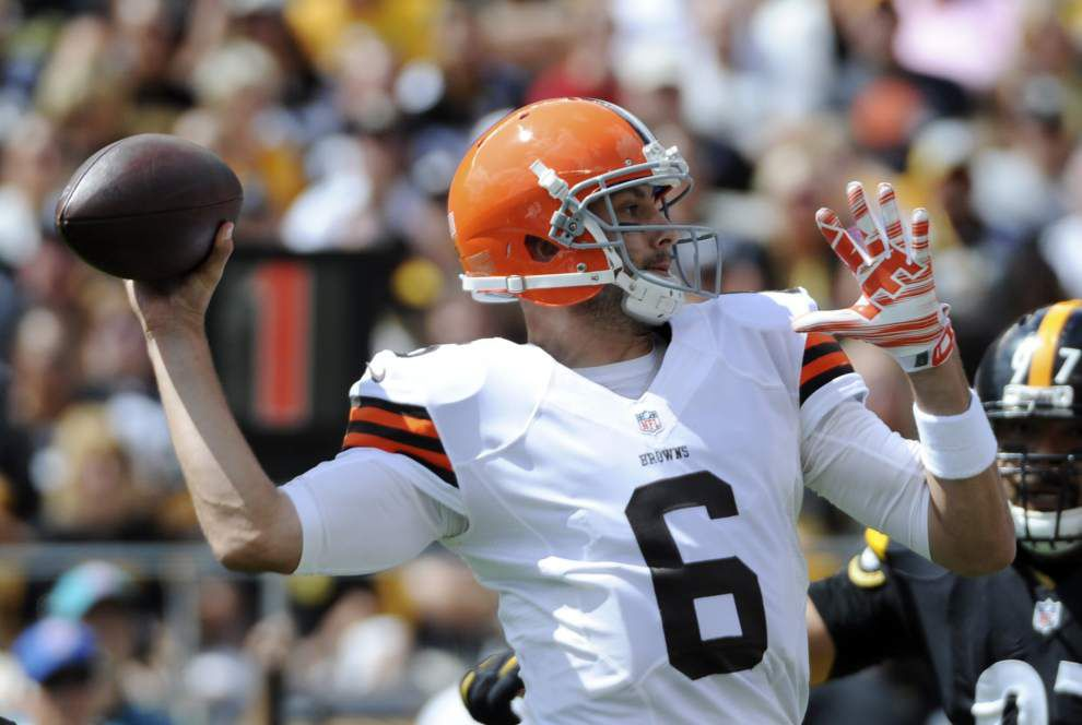 Saints could have tricky match-up against Cleveland Browns quarterback Brian Hoyer _lowres