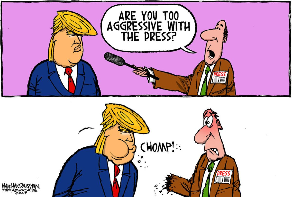 Walt Handelsman: Trump and the press