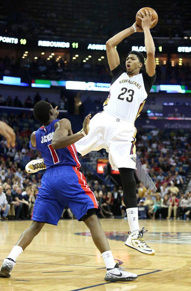 Anthony Davis returns to help Pelicans top Pistons in win Wednesday night _lowres