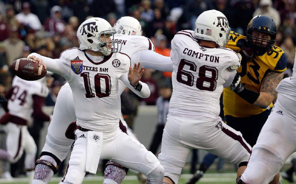 Kyle Allen's five touchdowns lead Texas A&M past West Virginia in the Liberty Bowl _lowres