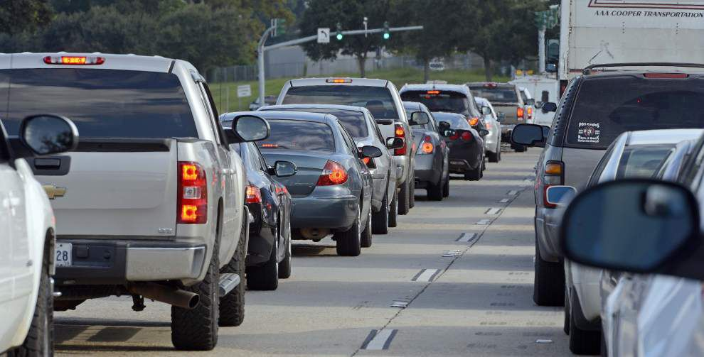 Perfect traffic storm making for a bigger than usual Friday snarl in Baton Rouge _lowres