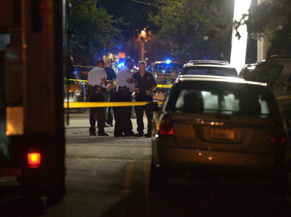 Seven shot, two dead in Burgundy Street shooting _lowres