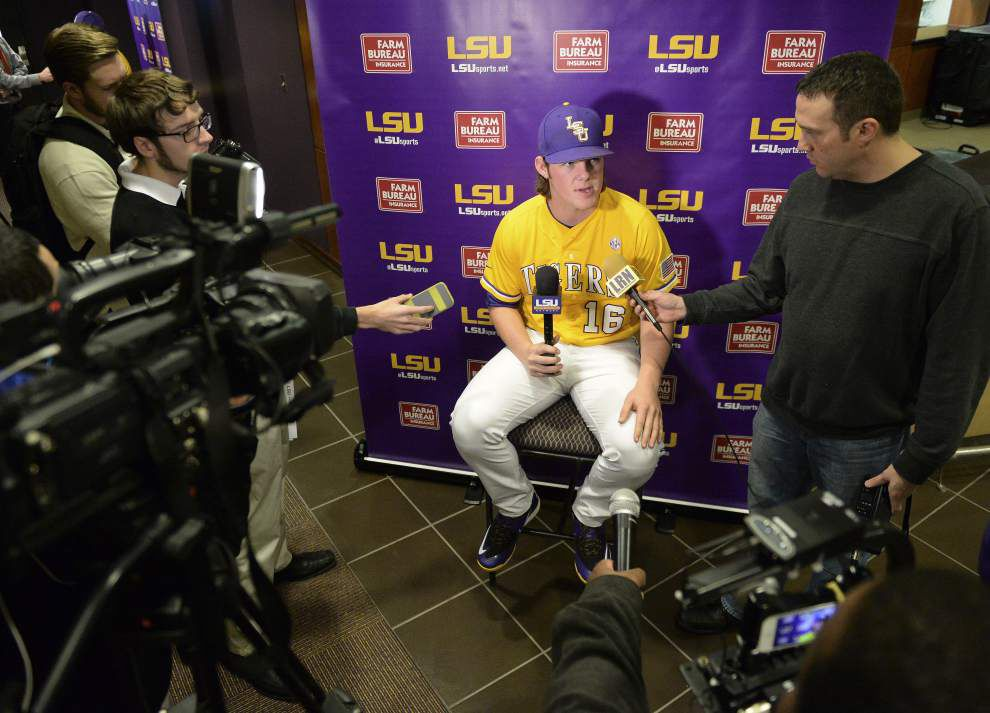 As the experienced sophomore, Jared Poché is set to fill Aaron Nola's role as the LSU baseball team's leader _lowres