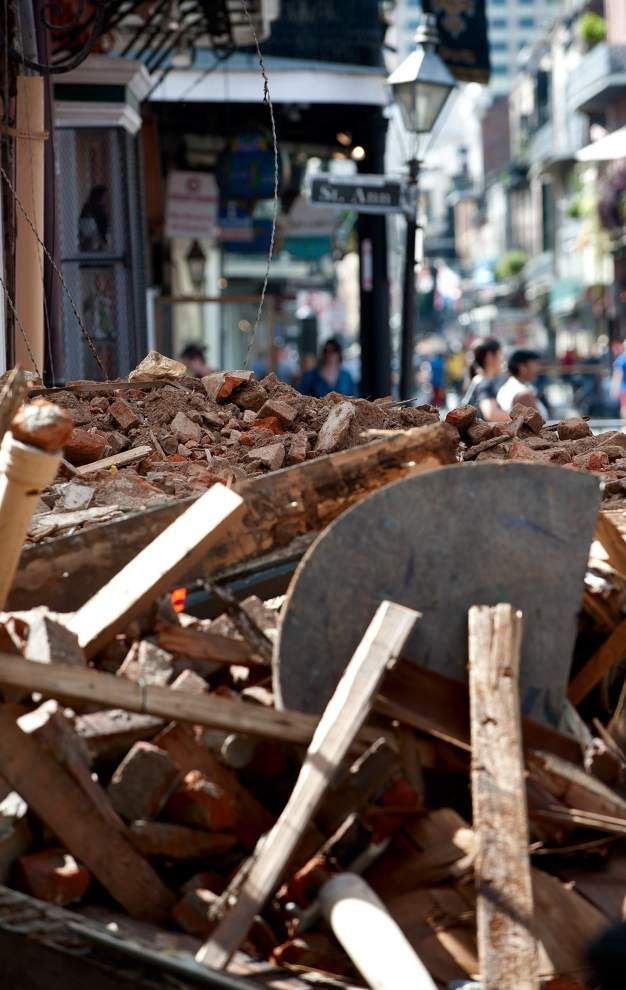 Cause of Royal Street building collapse likely to remain a mystery _lowres