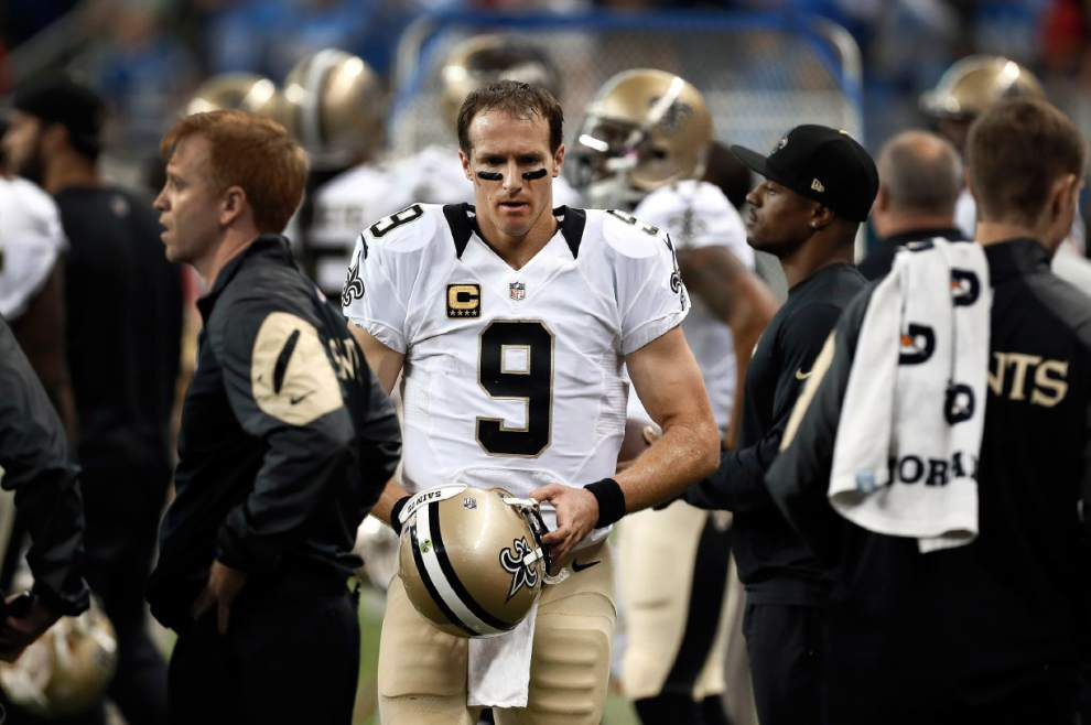 Video: Saints quarterback Drew Brees says he feels like he let his team down with late interception against Lions _lowres