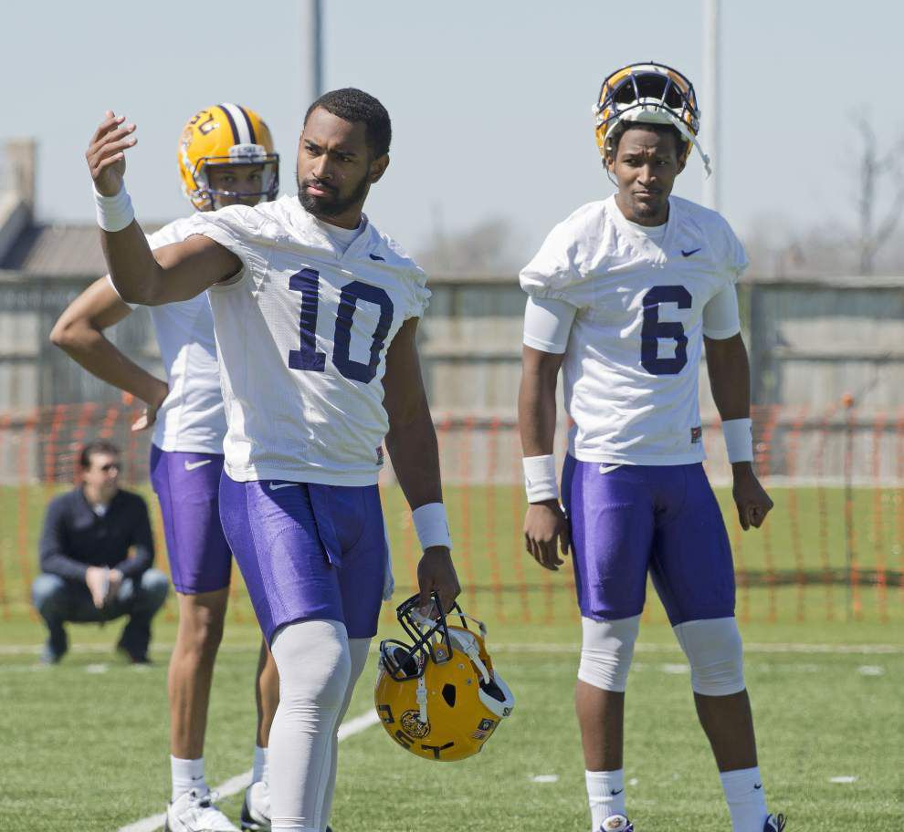Q&A with Les Miles on his quarterbacks _lowres
