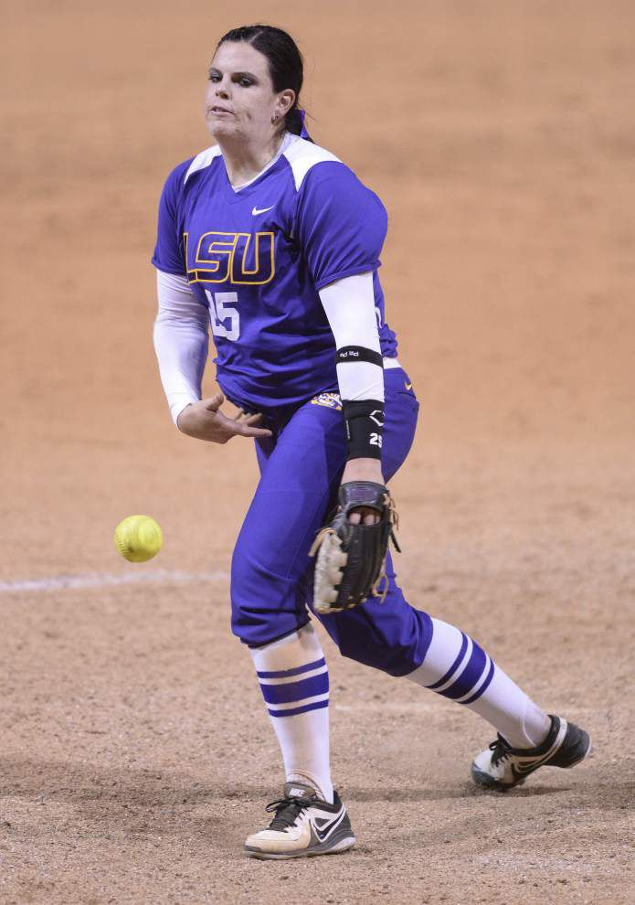 LSU softball team cruises to two more wins _lowres