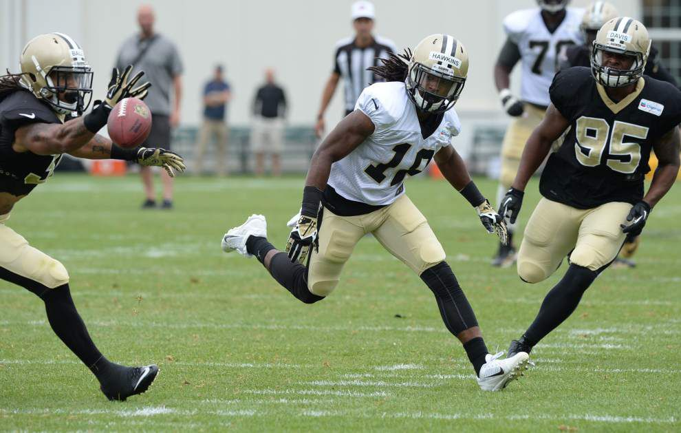 Safety Marcus Ball to make his debut for the Saints in Sunday's game against the Buccaneers _lowres