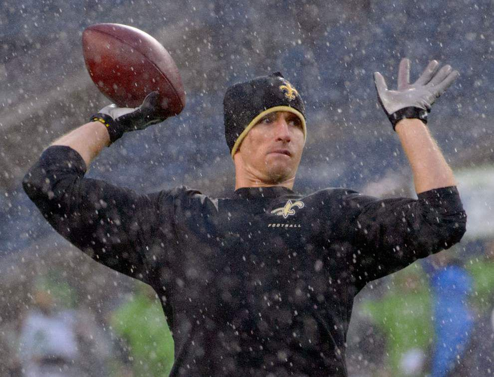 Drew Brees recalls pelting Ray Nagin in the head with Mardi Gras beads _lowres