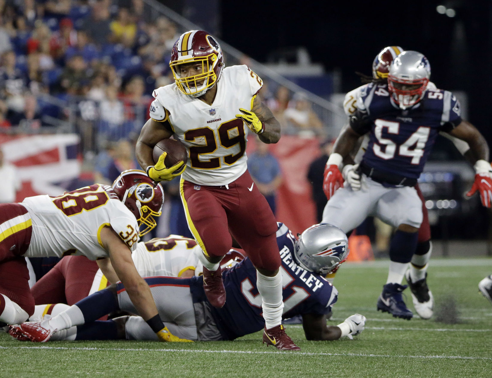 Former LSU star Derrius Guice focused on 'trying to get his knee right' in Washington