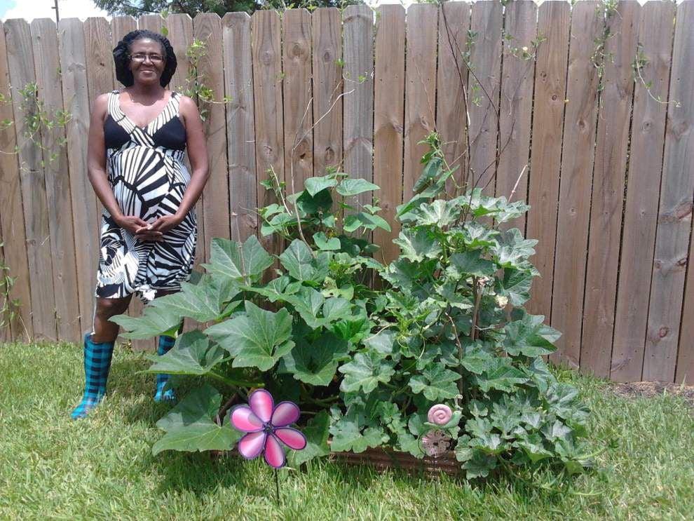 Volunteers offering miniature vegetable gardens _lowres