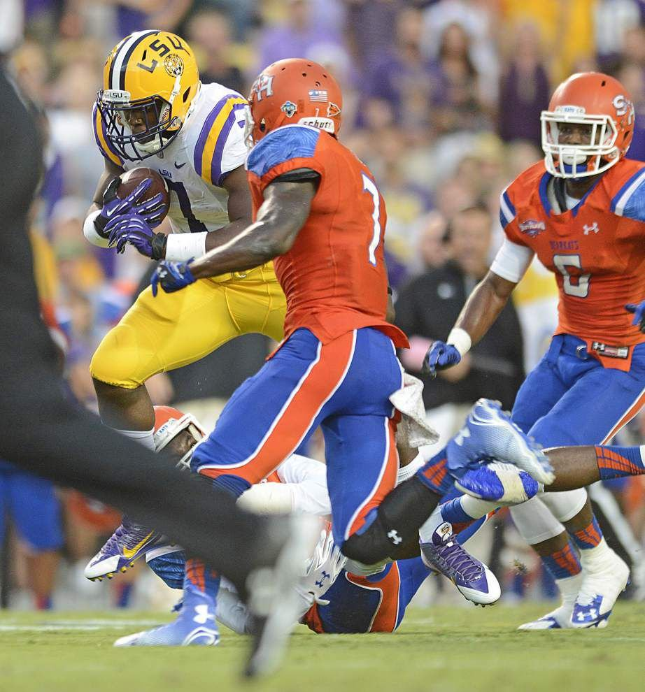 LSU's Leonard Fournette begins to show reason for all the fuss _lowres