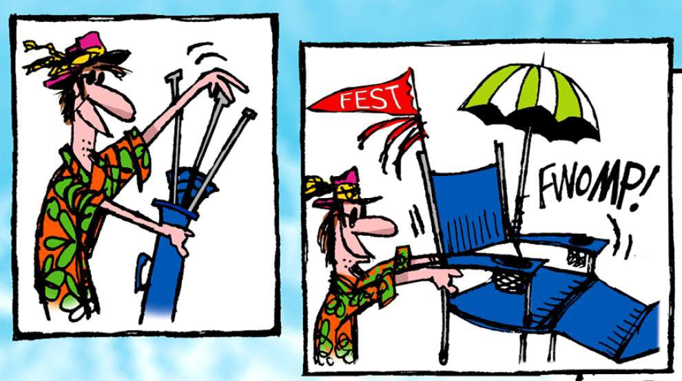 Walt Handelsman: Today at the Jazz Fest _lowres
