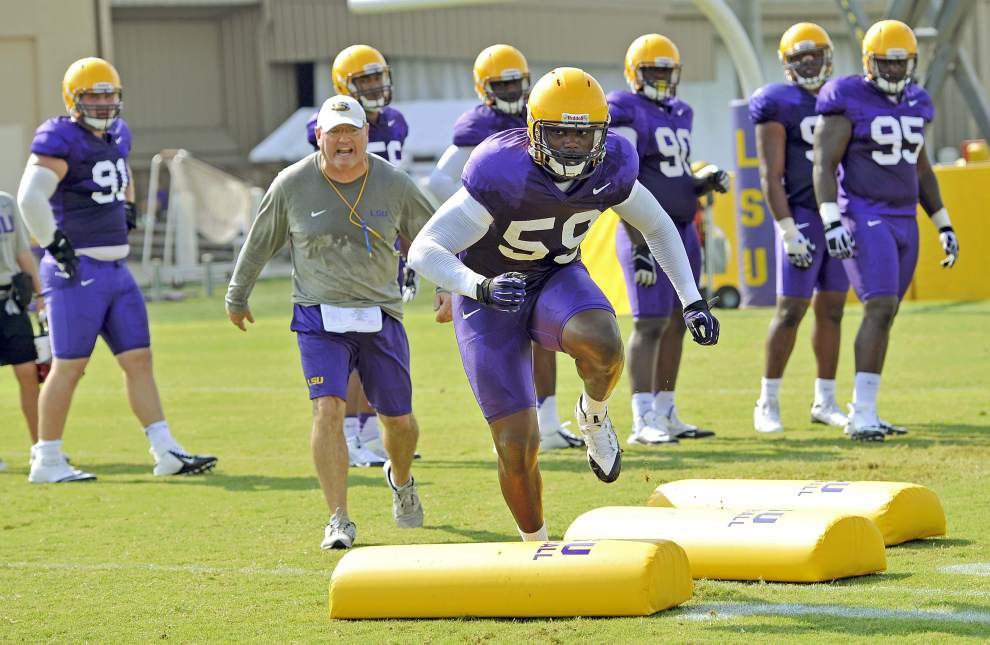 Reports from LSU's Friday morning football practice _lowres