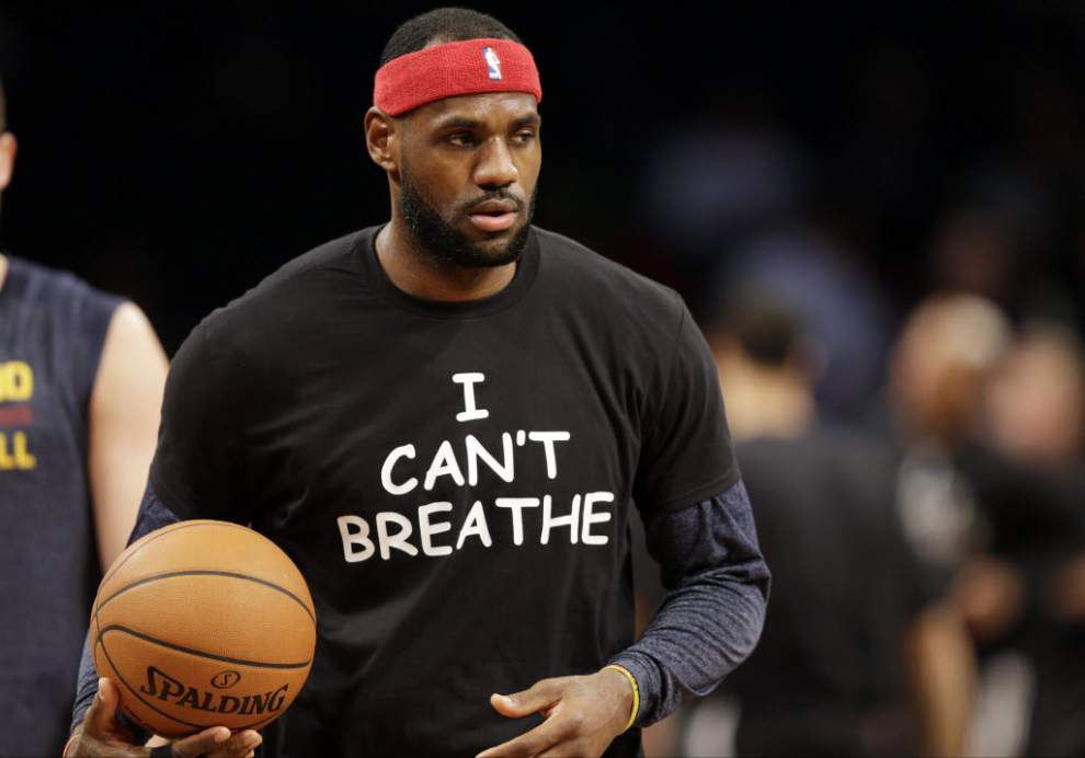 "Video: The Pelicans' Anthony Davis, Tyreke Evans say they respect the players and message behind the ""I Can't Breathe"" T-shirts _lowres"