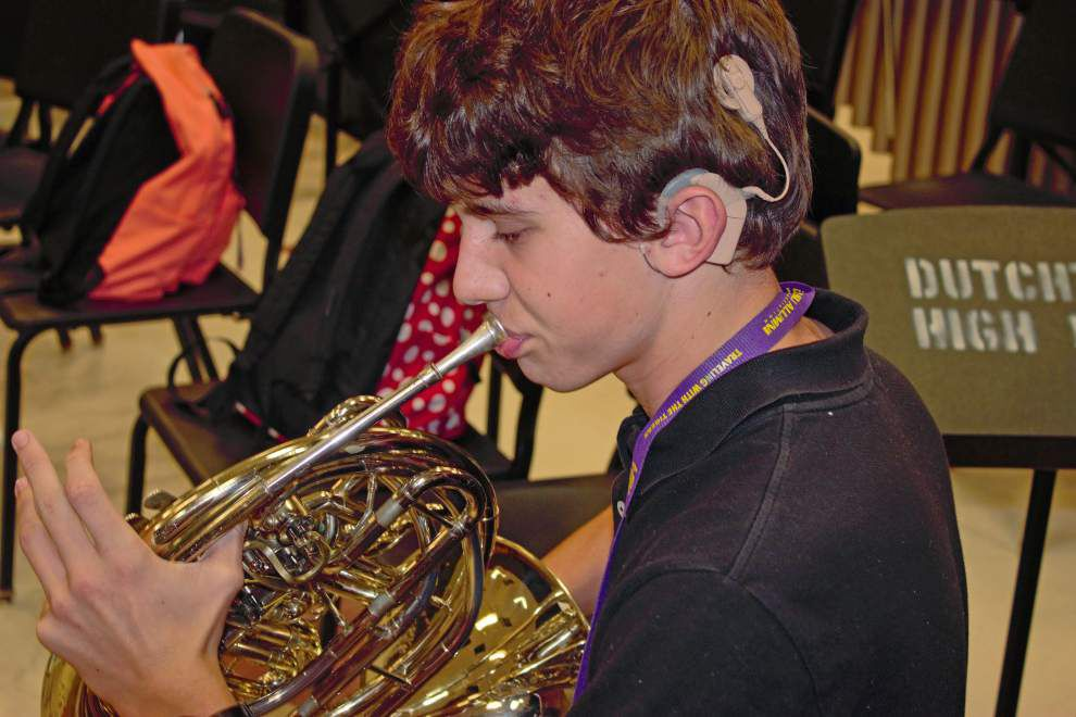 Deaf student feels the music at Dutchtown High with high tech help _lowres