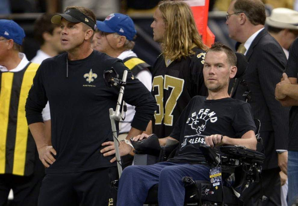 Former Saints player Steve Gleason says he was hospitalized last weekend, scheduled to return home Monday _lowres