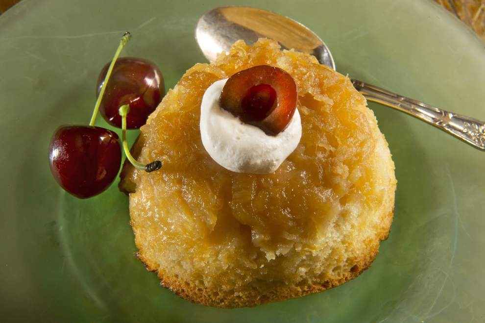 Gourmet Galley: Upside-down cake just right for individual servings _lowres