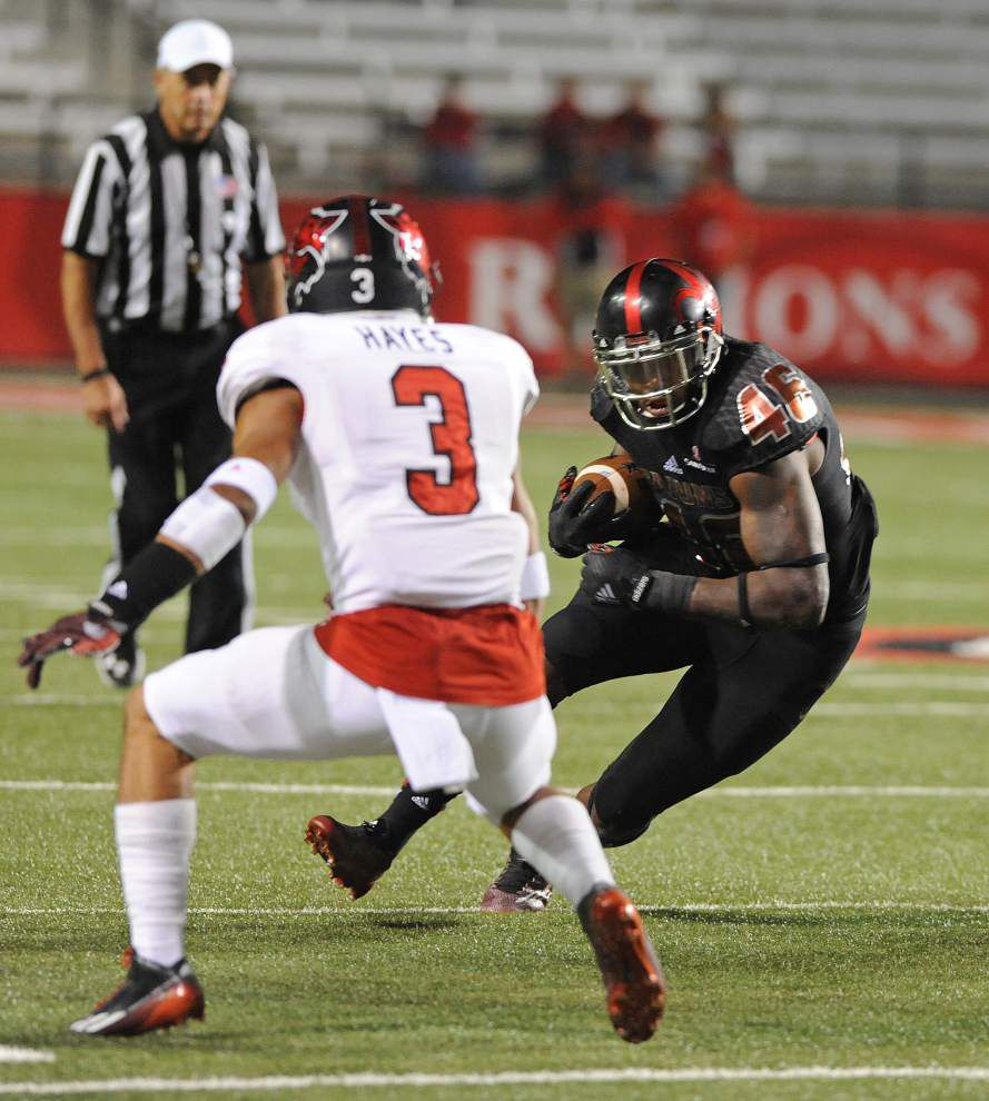 Elijah McGuire's 200-yard game carries Cajuns past Arkansas State _lowres