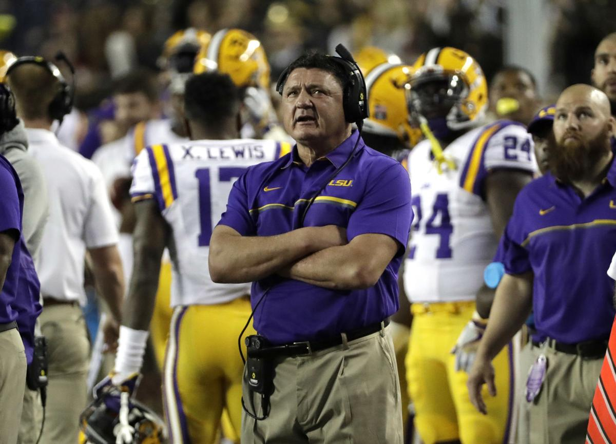 ed orgeron clear choice for lsu keep alabama 39 the hell. Black Bedroom Furniture Sets. Home Design Ideas