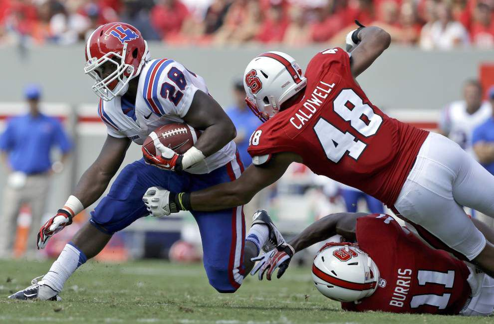Cajuns defense focused on Louisiana Tech running back Kenneth Dixon _lowres