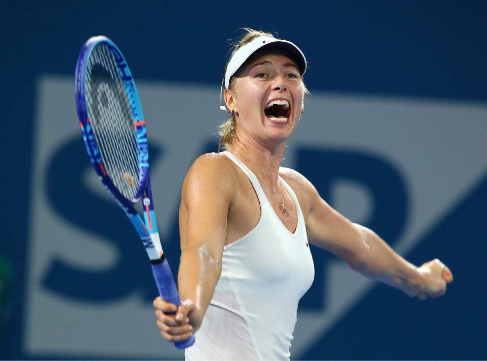 Sharapova wins; Federer set for career milestone _lowres