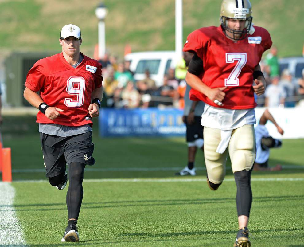 Drew Brees practices Sunday with Saints' first team for first time since Aug. 1 _lowres