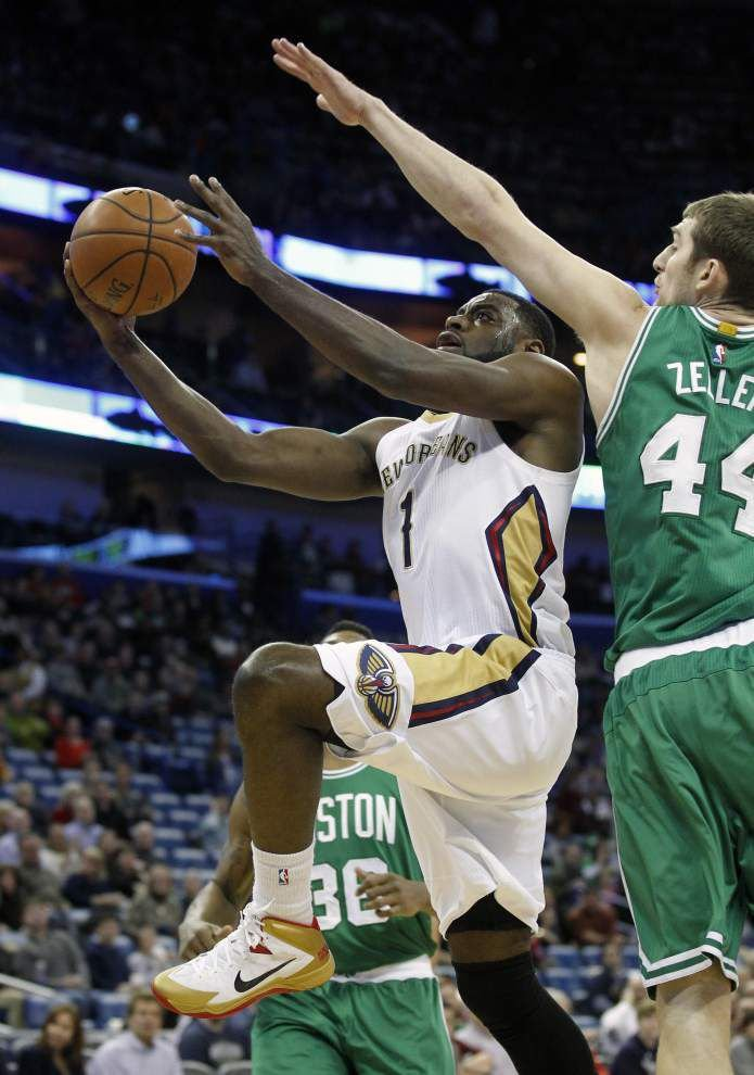 Stagnant offense dooms Pelicans in loss to Celtics _lowres