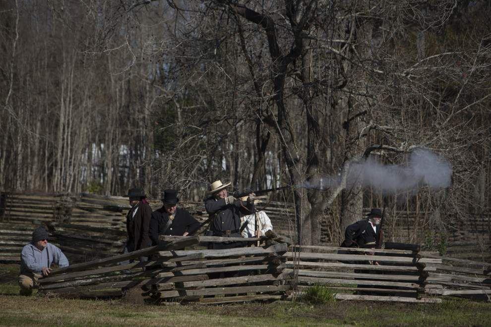 Photos: Acadian vigilantes reenactment _lowres